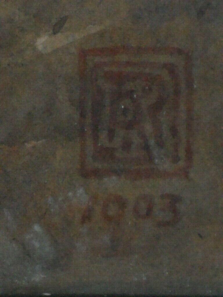 English Watercolour 1903 - Does anyone recognise the Monogram Box_si10