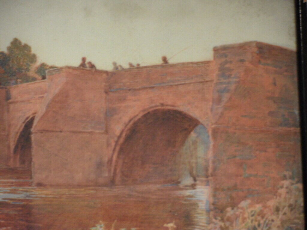 English Watercolour 1903 - Does anyone recognise the Monogram Bridge10