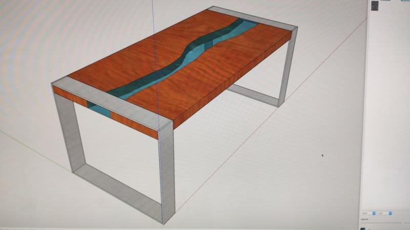Mesa en madera y epoxy  Img-2010