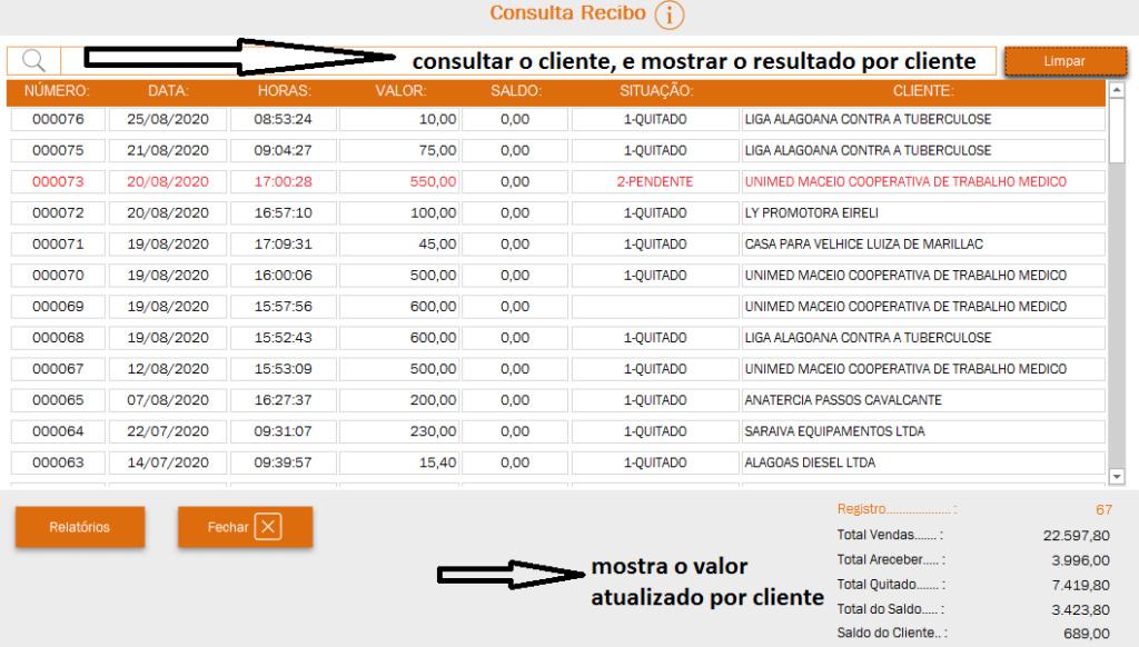 Consultar e atualizar valor por cliente Captur10