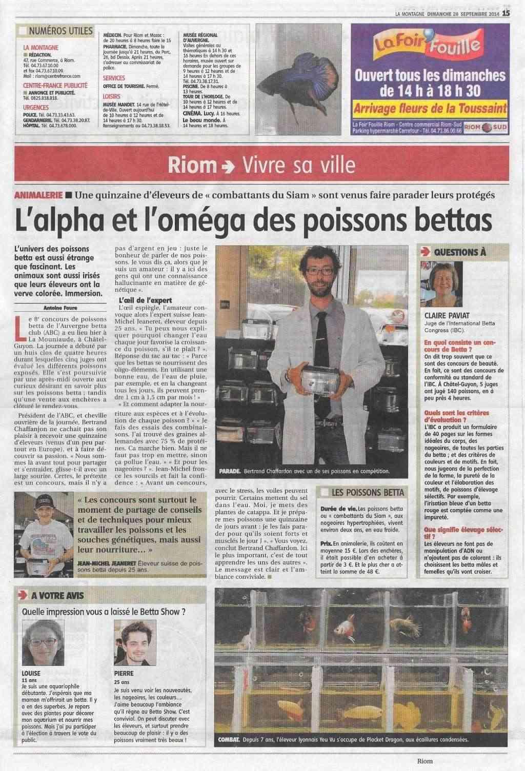 Châtel-Guyon 2014 (Auvergne Betta Club) du 26 au 28 septembre (IBC) - Page 2 Presse11
