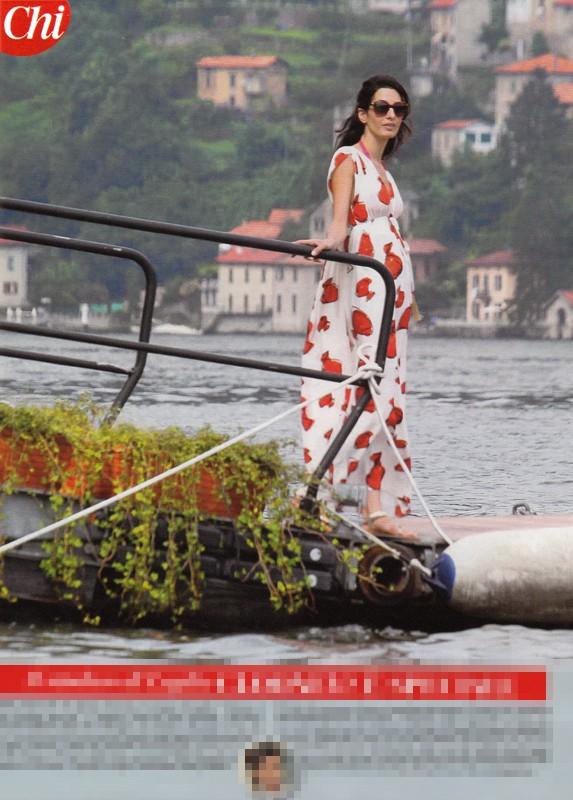 Photos: George Clooney and Amal Alamuddin boating on Lake Como Boatin11