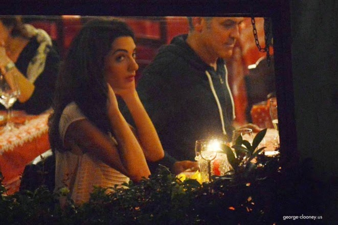 George and Amal having dinner at Da Ivo in Venice Cloone10