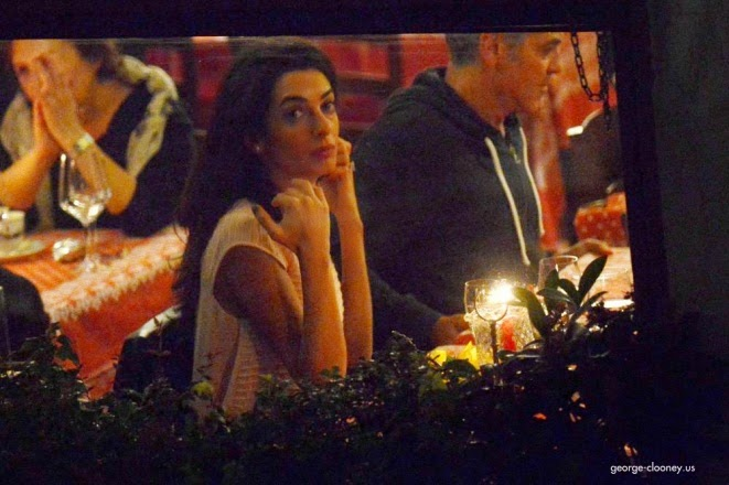George and Amal having dinner at Da Ivo in Venice Cloone11