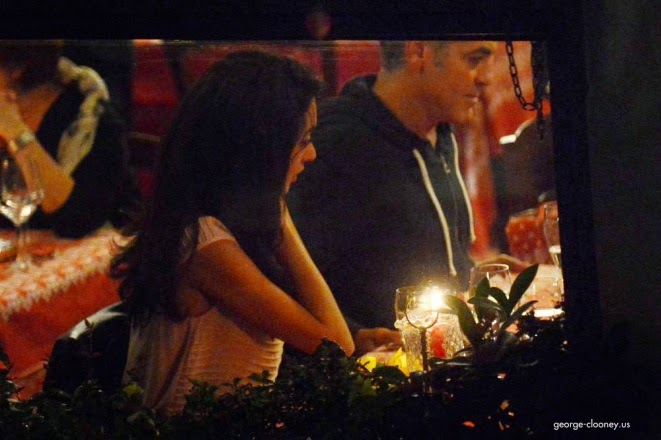 George and Amal having dinner at Da Ivo in Venice Cloone13