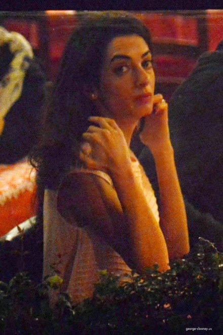 George and Amal having dinner at Da Ivo in Venice Cloone17