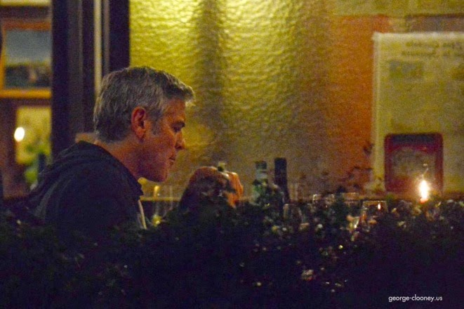 George and Amal having dinner at Da Ivo in Venice Cloone20