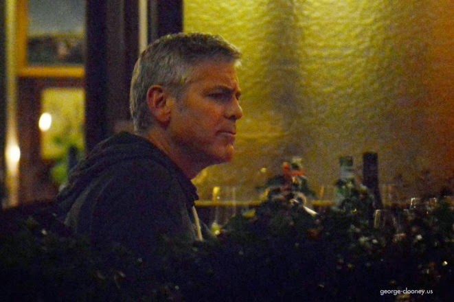 George and Amal having dinner at Da Ivo in Venice Cloone21