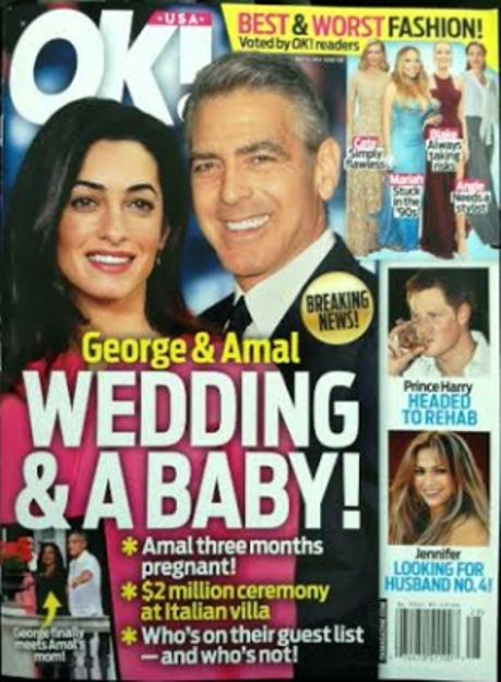 "George Clooney's fiancee ""three months pregnant"" - rumor denied Ok_mag10"
