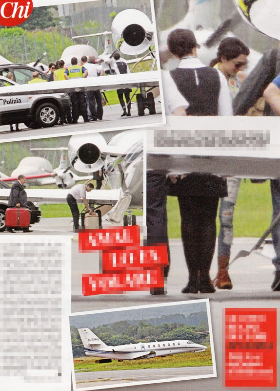 George Clooney and Amal Alamuddin leaving Italy on private jet Privat10