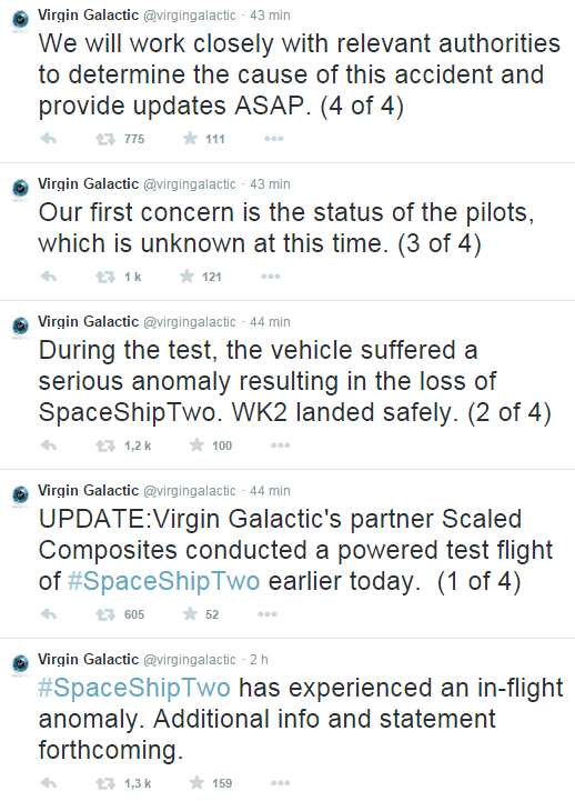 Destruction du SpaceShipTwo & enquête - 31.10.2014 Virgin10