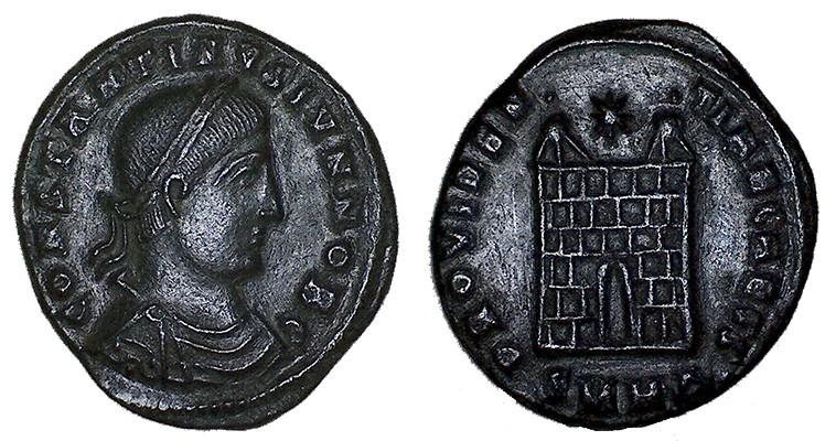 nummus Constantin II Heraclée Consta23