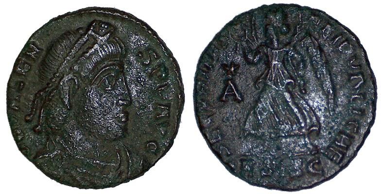 Ma petite collection : 48 monnaies  (Chrisus) - Page 2 Valens10
