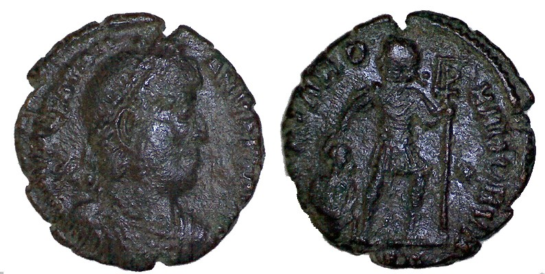 nummus de Valentinien pour Thessalonique Valent10