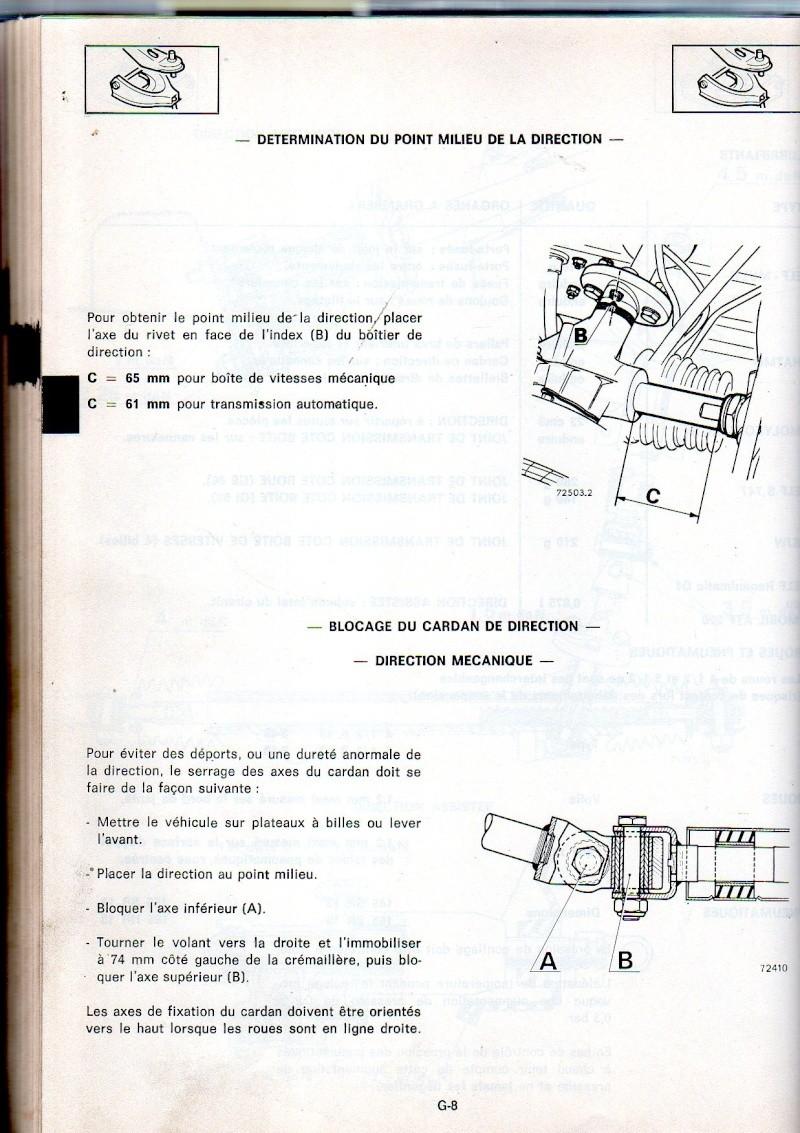 Géométrie du train avant. Mr185-22