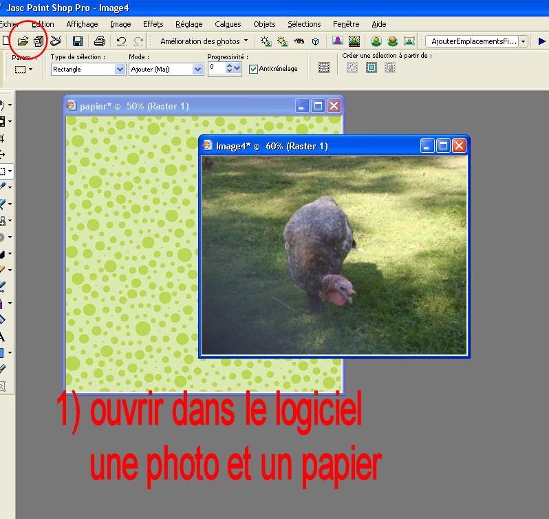 Tuto 1 _  photo sur papier scrap et titre  T210