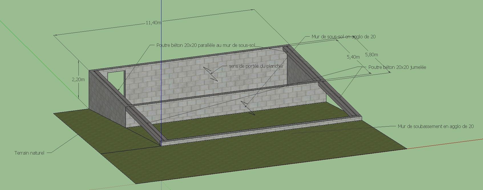 GREB sur plancher à poutrelle précontrainte vide sanitaire Infras10