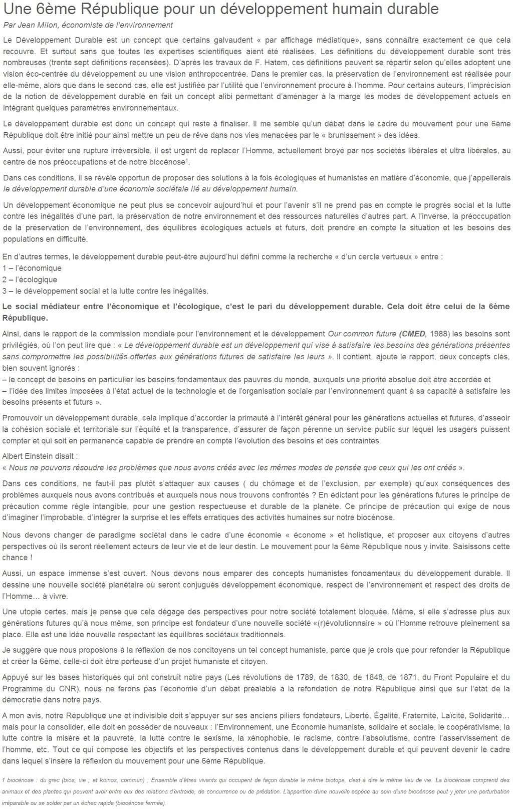 Je signe pour la 6e République + Déclaration de Marie George Buffet + Diverses signatures et appels (politiques, associatifs, intellectuels), signatures collectives (Socialistes affligés, militants PCF, Nouvelle Donne, syndicalistes)  09_une10