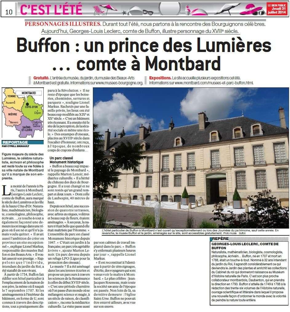 Buffon : un prince des Lumières... comte à Montbard (Bien Public)  Buffon10