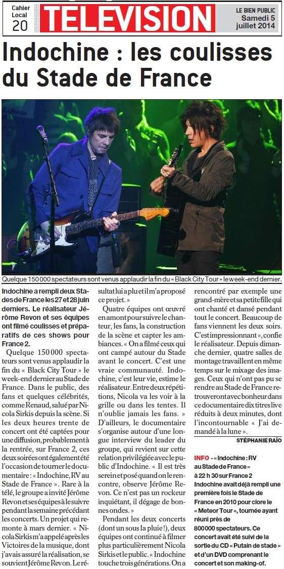 Indochine : les coulisses du Stade de France (Bien Public) Indoch10