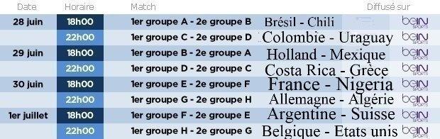 Coupe du monde 2014 [Calendrier et  Résultats ] Calend14