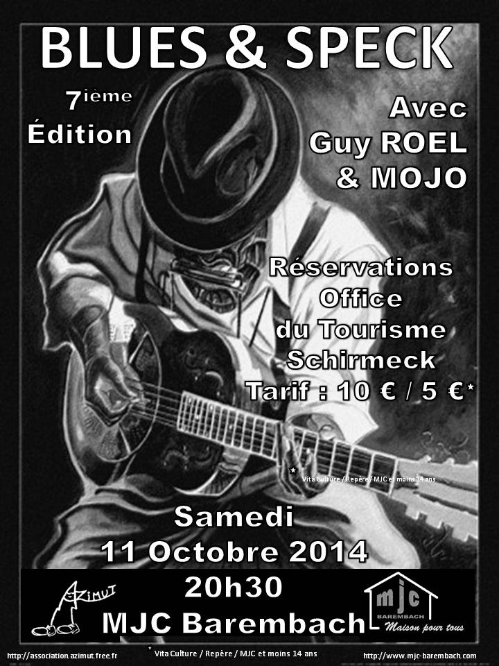 Mojo New Line + Guy Roel au Blues & Speck Affich10