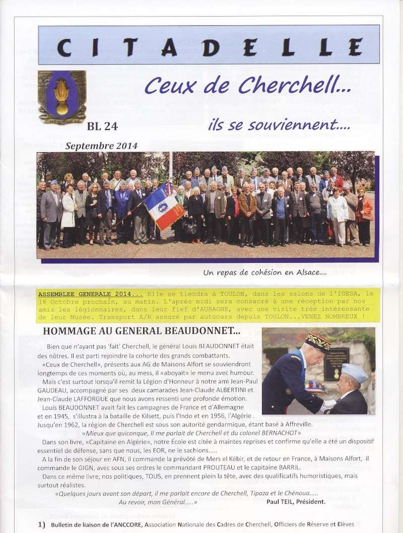 """Bulletin CITADELLE n°24 septembre 2014 """"Ils se souviennent"""" Citade10"""