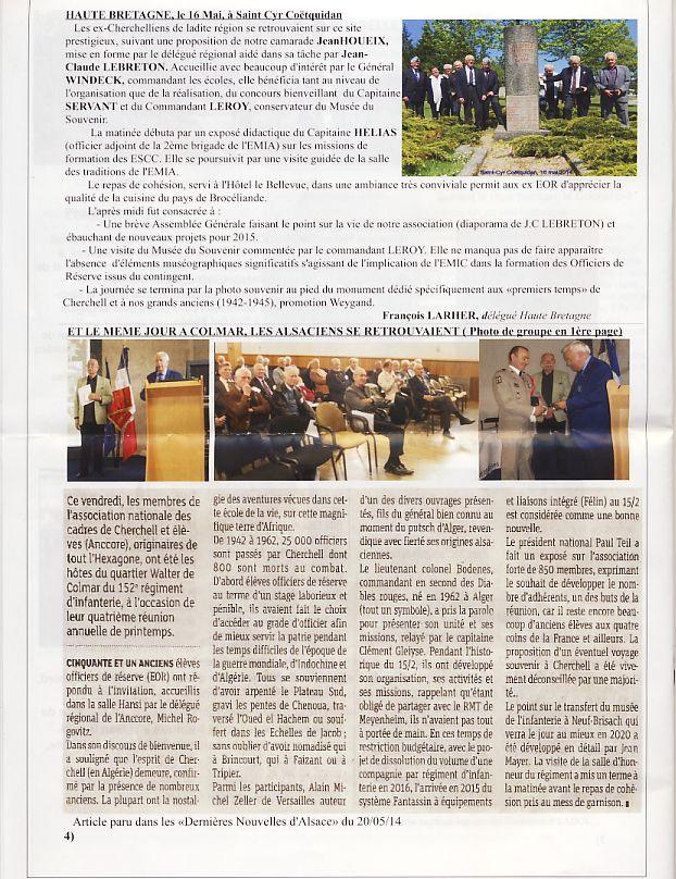 """Bulletin CITADELLE n°24 septembre 2014 """"Ils se souviennent"""" Citade13"""