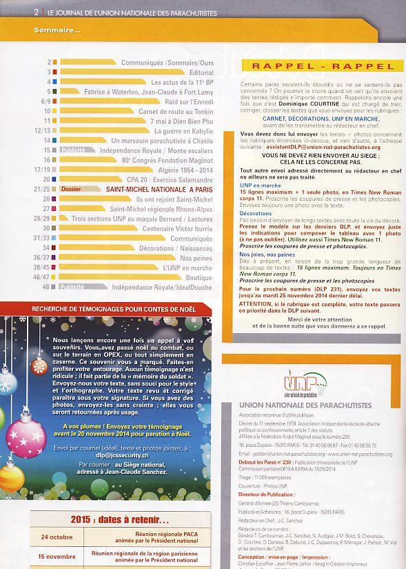 DEBOUT LES PARAS (DLP) revue de l'Union Nationale des Parachutistes Dlp610