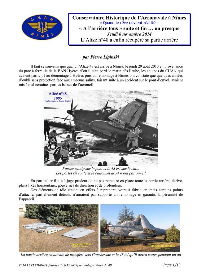 [Associations anciens marins] C.H.A.N.-Nîmes (Conservatoire Historique de l'Aéronavale-Nîmes) - Page 3 2014_110