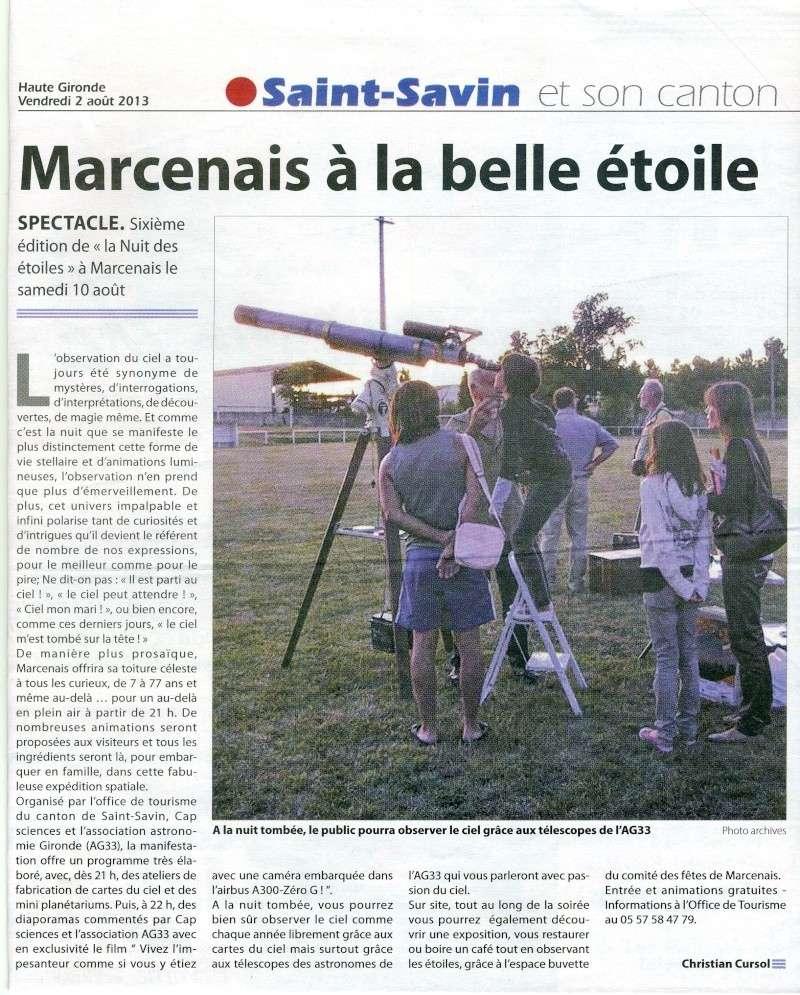 Nuit des Etoiles samedi 10 août 2013 à Marcenais Marcen10