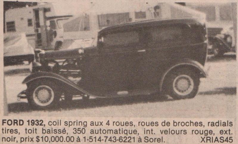 Serie: Des Rod intéressant qui ont déja été vendre ici au Québec 70s 80s Ford3210