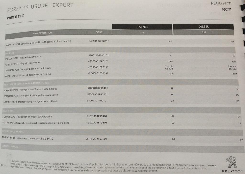 TARIFS Révision THP et HDI 311