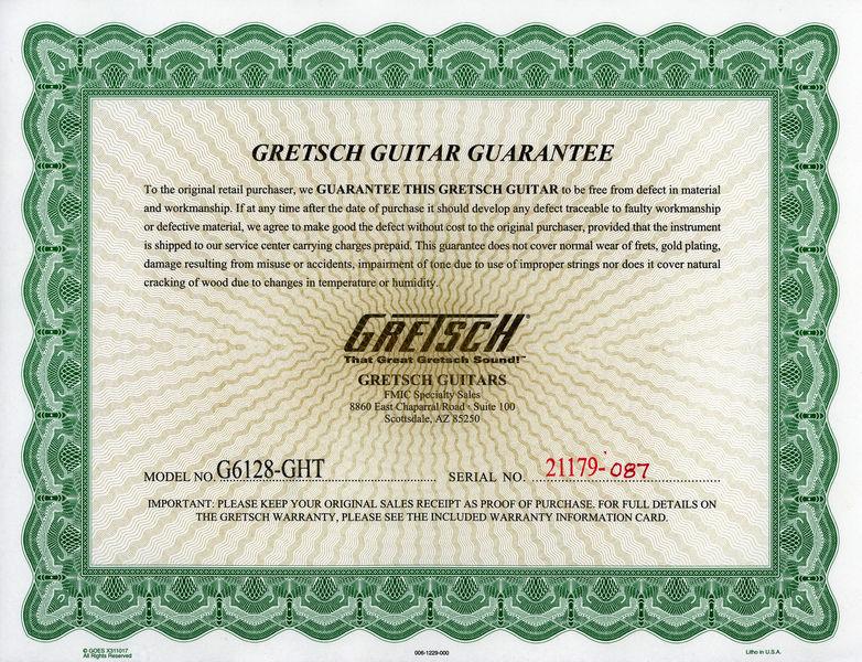 Gretsch G6128T-GH Custom Tribute 73026210
