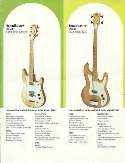 Gretsch 1970 Broadkaster Solid Body 7600 75pg6_10