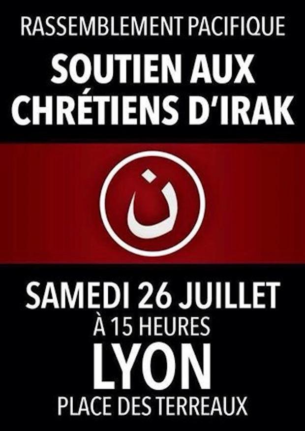 Chrétiens d'Irak : rassemblement à Lyon ce samedi 26 juillet 2014 Chreit10