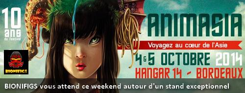 [Expo] BIONIFIGS à Bordeaux pour Animasia les 4 & 5 octobre 2014 Actuan10