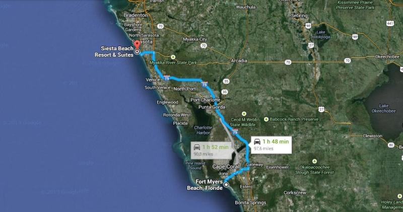 """7 États du Sud des USA - 5000 Km - 25 jours : """"De Miami à New Orleans via Atlanta"""" - Page 5 Map10"""