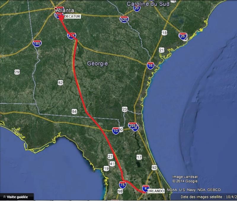 """7 États du Sud des USA - 5000 Km - 25 jours : """"De Miami à New Orleans via Atlanta"""" - Page 7 Route14"""
