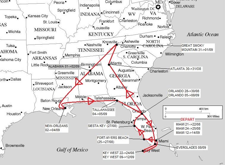 """7 États du Sud des USA - 5000 Km - 25 jours : """"De Miami à New Orleans via Atlanta"""" Usasud10"""