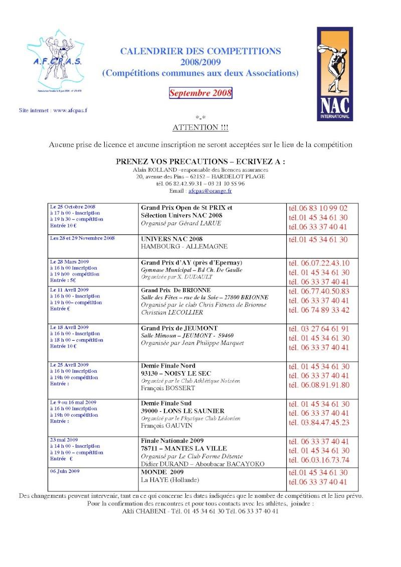 CALENDRIER AFCPAS / NAC 2008-2009 _www_a10