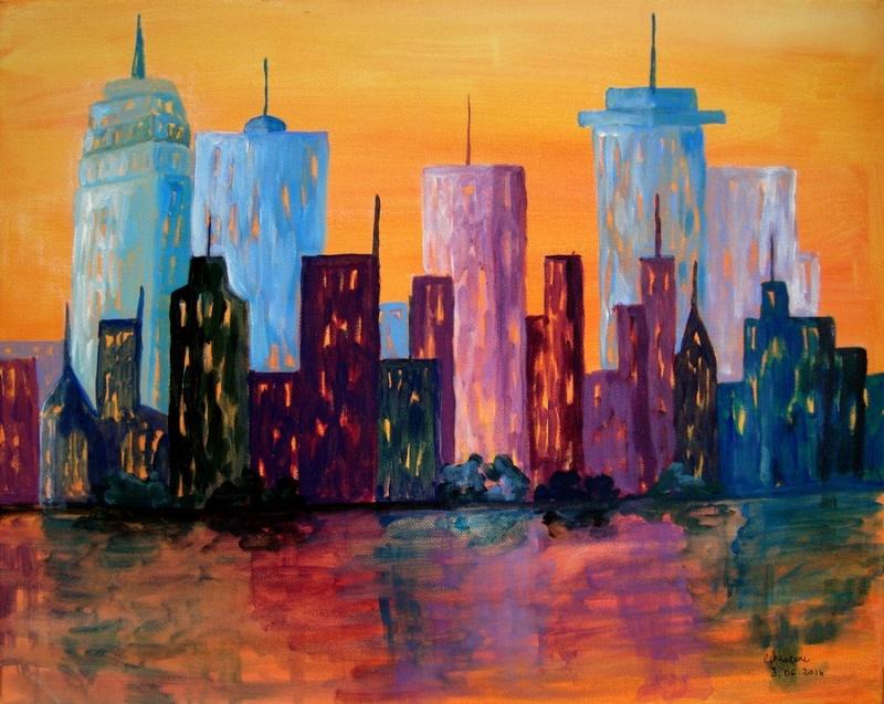 New York ( acrylique) Dsc02212