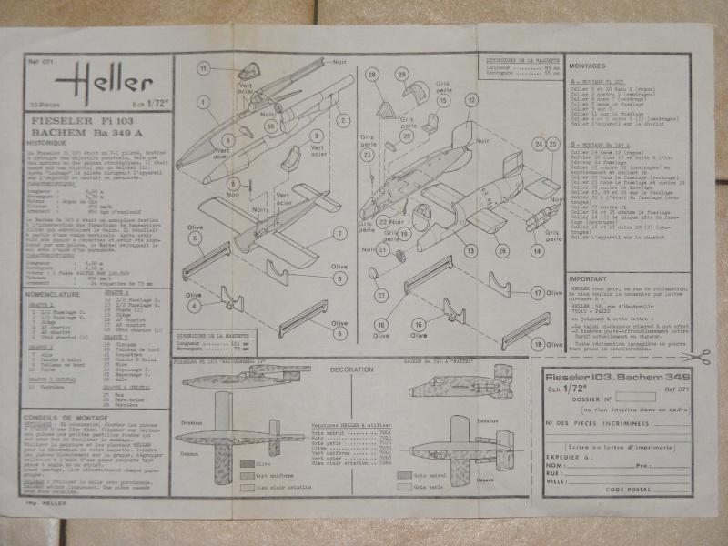 BACHEM Ba 349A NATTER & FIESELER Fi 103 REICHENBERG IV 1/72ème Réf 071  Dscf9445