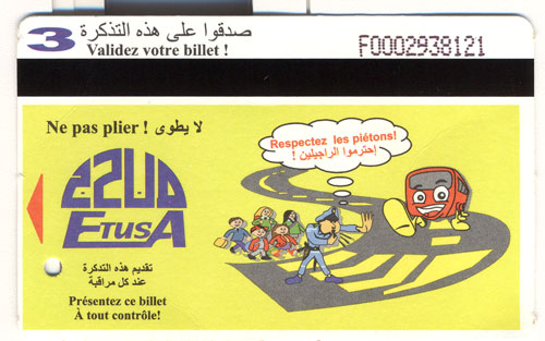 tickets de Bus Etusa210