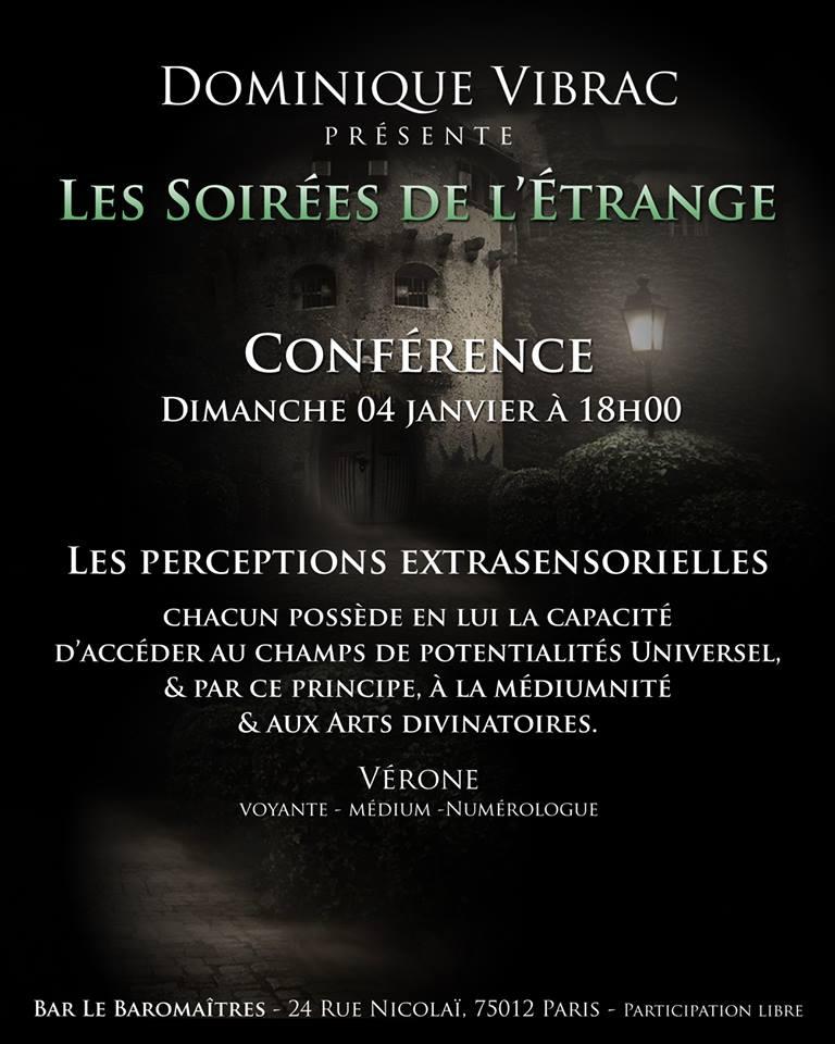 """Conférence """"Les perceptions Extrasensorielles"""" par Vérone Voyante-Médium-Numérologue 10858510"""