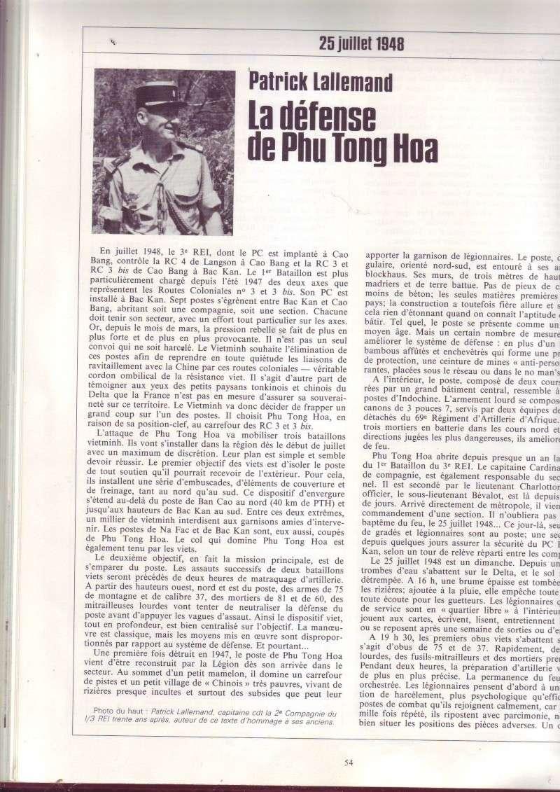 - PHU TONG HOA - Indochine, résistance farouhe légionnaires du 3 éme REI, les Viets ne sont pa parvenus à prendre e post Image527