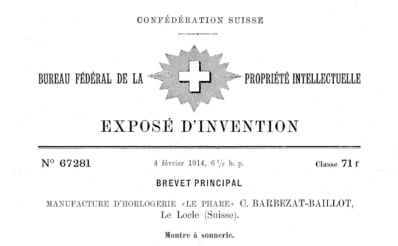 Calibres Le Phare Extrait de la Classification Horlogère 1936 Conner11