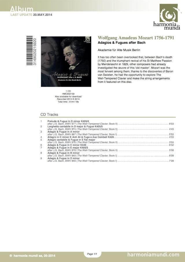 Le clavier bien tempéré de Bach Adagio10