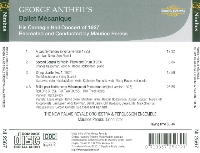 George Carl Johann Antheil (1900-1959) Back42