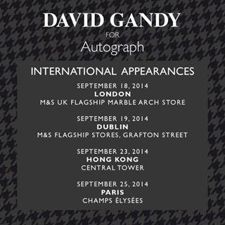David Gandy en dédicace au M&S champs elysées 10599310